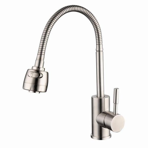304 edelstahl küchenarmatur Warm und kalt Gemüse Waschbecken Mixer Universal drehbare Tippen waschbecken wasserhahn torneira