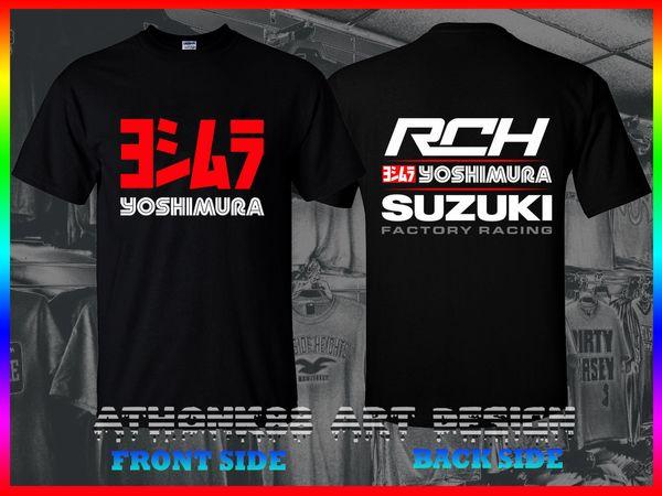 SUZUKI YOSHIMURA CAMISA DE CORRIDA JAPÃO GSXR GSXR T-SHIRT RCH SUZUKI T-SHIRT O-pescoço T Camisa Ocasional O-pescoço Imprimir Tops t-shirt Dos Homens