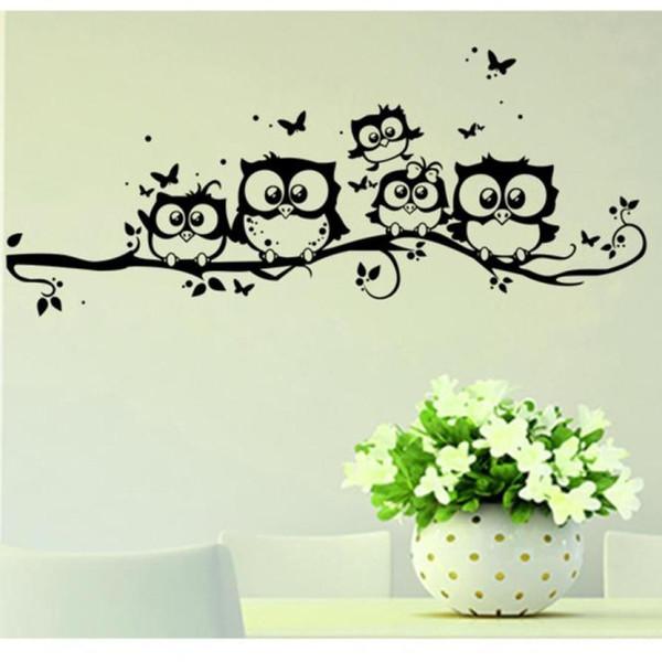 Wall Sticker owl Foam switch stickers Kids Vinyl Art Cartoon Owl Butterfly Wall Sticker Decor Home Decal Apr4