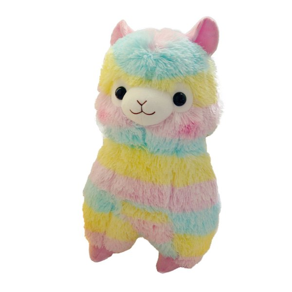 best selling Llama Arpakasso Stuffed Animal 35cm 14 inches Rainbow Alpaca Soft Plush Toys Kawaii Cute for Kids Christmas present C5123