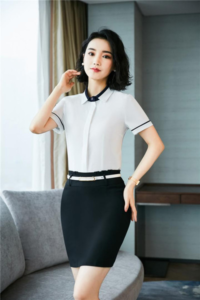 Formal Office Uniform Designs Women Business Suits With 2 Piece Tops And Skirt For Ladies Skirt Suits Work Wear Clothes
