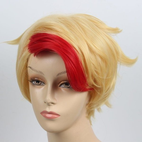 on ICE Minami Kenjiro Wig Golden Red Mixed Styled Cosplay Wigs YURI!!