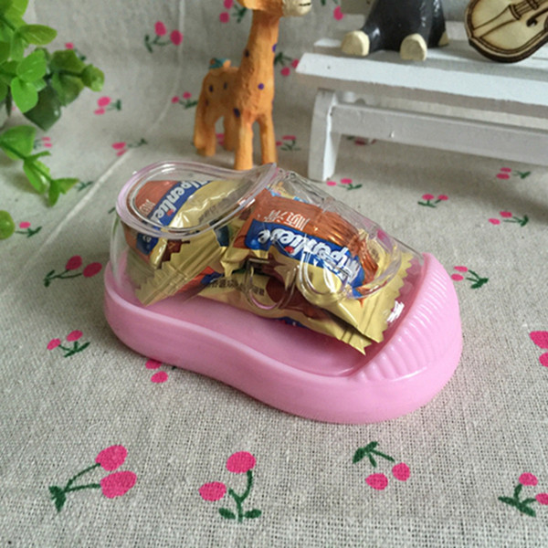 Plastic Shoes Shape Candy Chocolate Box for Girls Boys Birthday Party Baby Shower Favors Gift