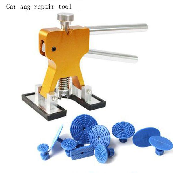 Araba tamir aracı el aletleri Pratik donanım Araba Vücut Paintless Dent Kaldırıcı Onarım dent çektirme + 10 Taks Dolu Temizleme Aracı set