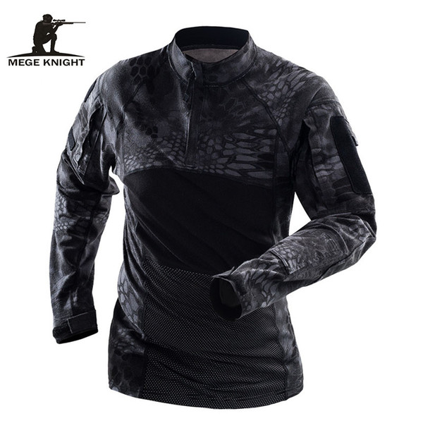 Mege Brand Tactical Clothing Camouflage Men Army T-Shirt Long Sleeve Soldiers Combat Uniform Multicam Shirt