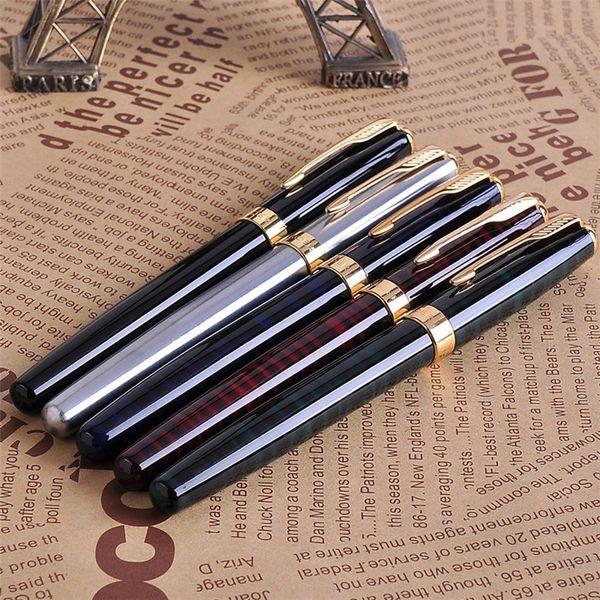 Promozione All'ingrosso 5Pcs / set Baoer 388 lusso oro clip penna stilografica colori della miscela 0.5mm pennino inchiostro metallo penne Set per il regalo di natale