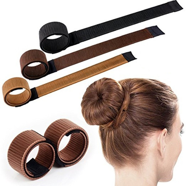 Moda fai da te strumenti per lo styling dei capelli Donut ex schiuma francese Twist Bun Maker