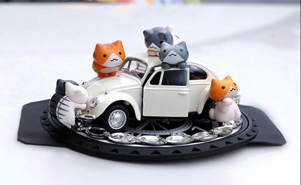 Creative small ball doll perfume seat lovely car ornaments ornaments cartoon cat classic car female