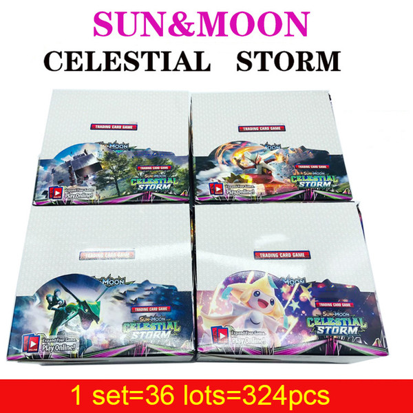 Sun&Moon Celestial Storm Card Game Anime Trading Playing Cards Wholesale 324pcs Pocket English Card Party Board Game Toys DHL