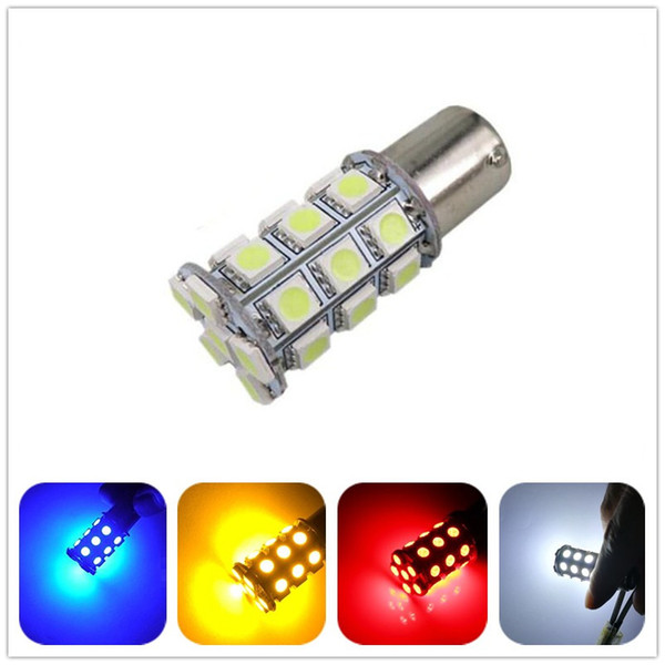 12v DC white bule red green yellow P21W 1156 BA15S 27SMD 5050 LED auto turn Signal lamp Light bulb