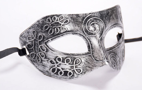 Retro Roman Mens Venice Masks Masquerade Mardi Gras Masks Halloween Costume Party Half Face Carving Mask Festival Party Cosplay Decoration