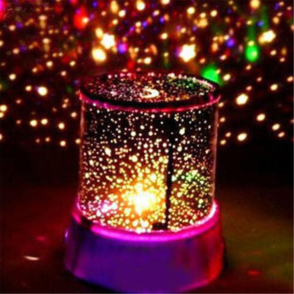 1 PC Coloré Led USB Lampe De Projection Projecteur Étoilé Ciel Étoile Lune Maître Enfants Enfants Bébé Sommeil Romantique Lampe