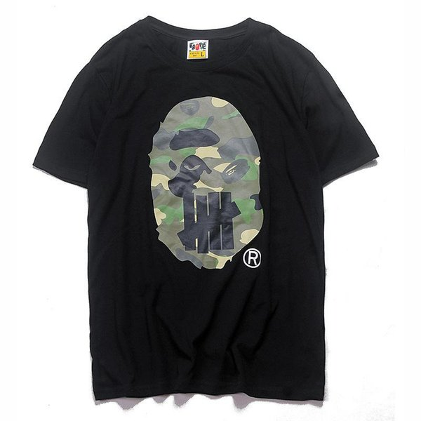 2018 APE Tshirts for Summer OFF New Camouflage Print T-shirt WHITE Men's Casual Round Neck Short Sleeves Pullover Short Sleeve Cheap Sa