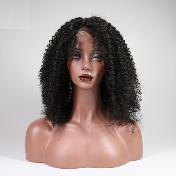 Kinky Kıvırcık 13x6 Siyah Kadınlar Için Dantel Ön İnsan Saç Peruk brezilyalı Remy Saç Tam Dantel peruk Ile Lacefront peruk Bebek Saç Ağartılmış Knot