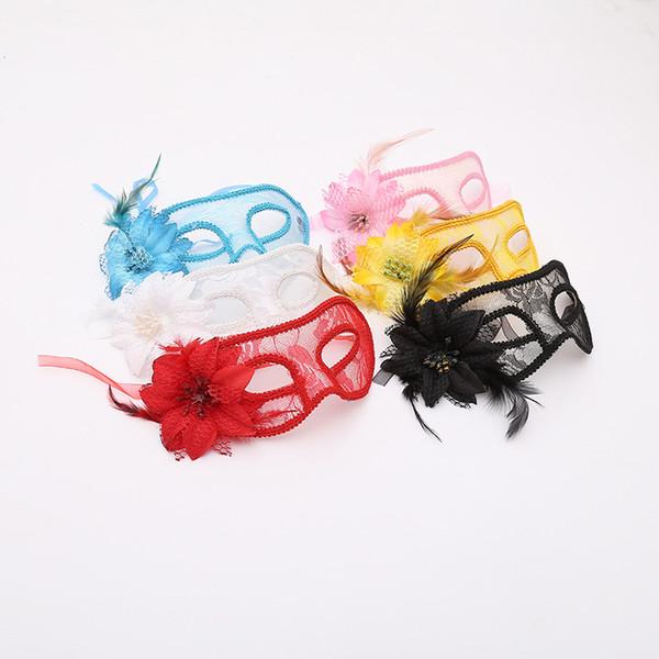 Adulto meia-máscara de rosto de renda máscara de festa de Halloween máscara do baile de finalistas mix 6 cores frete grátis W7623