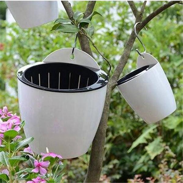 Wholesales Wall Hanging Flower Pot Round Hydroponics Chlorophytum Potted Flower Pots Planters & Pots