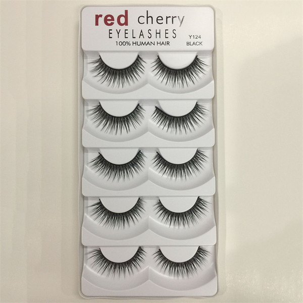 New design Red Cherry 3D False eyelashes 5 pairs/pack 8 Styles Natural Long Professional makeup Big eyes High Quality