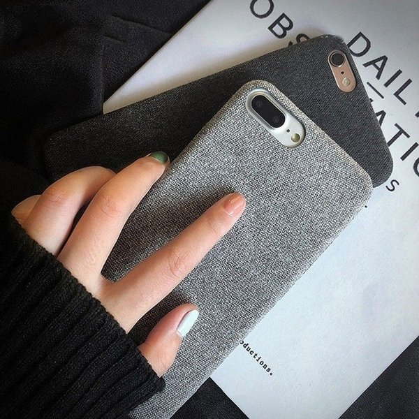 HOT Soft Cloth Fiber Ultra-thin Non-slip Shockproof Phone Case For IphoneX 6 6S 7 8 U332 WHOLESALES PRICE