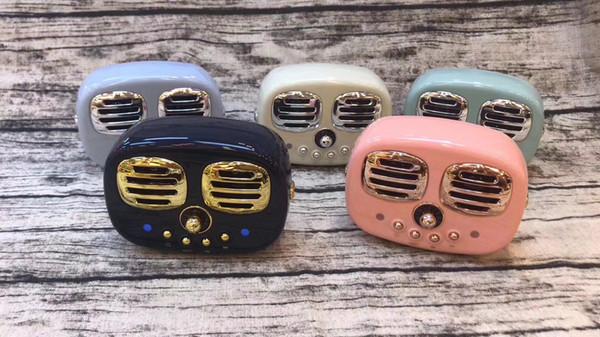 HM12 Retro Radio Bluetooth Speaker Vintage nostalgic Heavy Bass 3D Stereo Surround Hifi Speakers with TF, USB ,FM, AUX