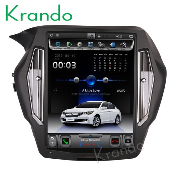 "Krando Android 6.0 15"" Tesla style Vertical screen car dvd audio radio player for Honda accord 9 multimedia gps navigation system"