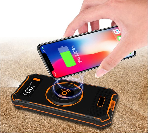 10000 mAh Power Bank Qi Wireless Charger External Battery For iphone X 8 Plus Fast Charge For Xiaomi Samsung LCD Powerbank