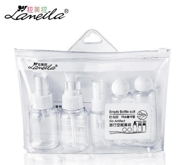 LAMEILA 5pcs spray bottle 50ml set Plastic empty Bottle cosmetics container Atomizer Shampoo Cream Refillable Travel Bottles Set