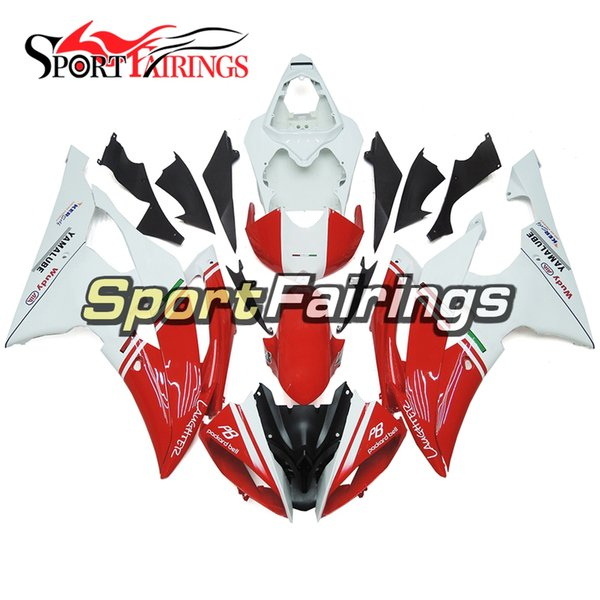 Gloss White Red Full Motorcycle Fairing Kit For Yamaha YZF600 R6 YZF-R6 2008 - 2016 09 12 13 14 15 16 Injection ABS Plastic cowlings