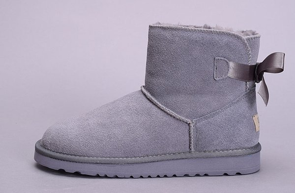 Acquista UGG Boots Stivali Da Neve Invernali Classic Chestnut WGG Nero Grigio Caffè Stivali Da Bagno Blu Scuro Stivali Da Donna Neri Rossi Warm