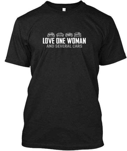 Erkek Aşk Bir Kadın Ve Birkaç Arabalar T S-Hanes Tagless Tee Tişört