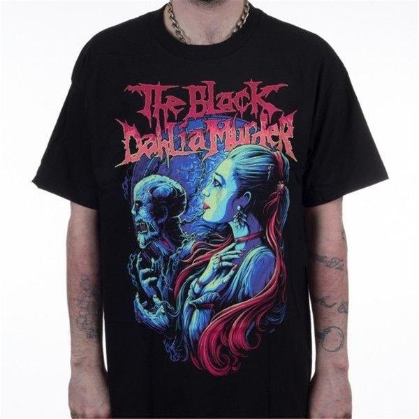 T Shirt Hot Topic Sleeve Men'S Crew Neck The Black Dahlia Short Compression T Shirts