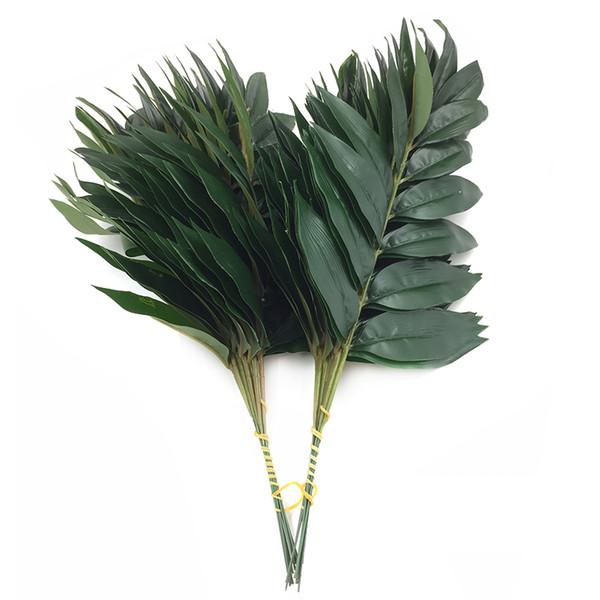 Foglia Di Bamb.Acquista Artificiale Bambu Laminato Albero Foglia Verde Vegetale Foglia Di Bambu Finto Decorazione Floreale Flore Arrangiamento Decorazione A 0 38