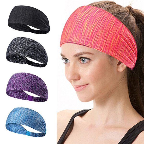 top popular Multicolors Sports Yoga Hair Bands Quick Drying Elastic Headbands Hair Accessories Head Wear Free DHL 2019