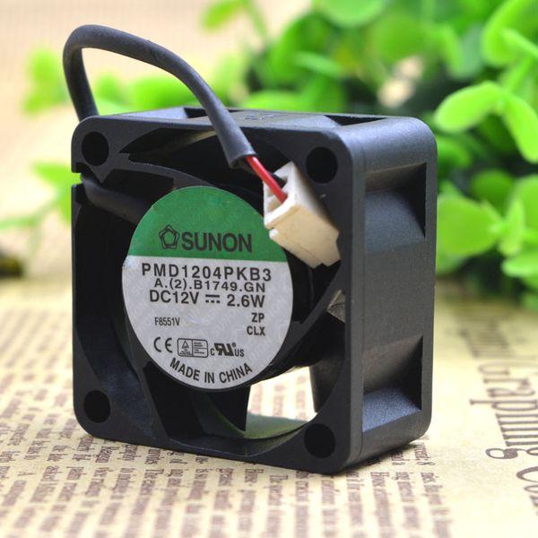 Jianyuan SUNON PMD1204PKB3 için 12 V 2.6 W 4020 4 CM cm Çift topu sıcaklık kontrol fanı