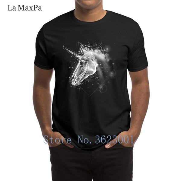 Дизайн письма мужчины Майка пространство Единорог мужская футболка забавная одежда футболка здание евро размер футболка для мужчин высокое качество