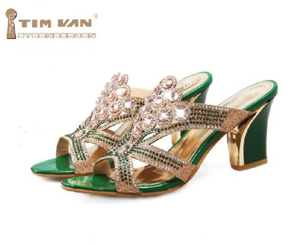 1a8b50c1c4867 ... Women new fashion spring summer Rhinestone trend sandals thick high  heels street shoes large plus size  sexy summer sandals wedges ...