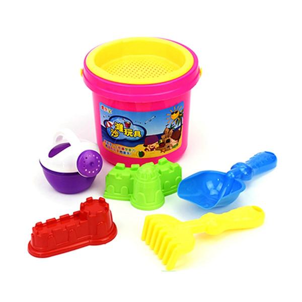 5pcs/Set Sand Water Beach Play Toys Set Kids Children Seaside Bucket Shovel Rake Kit Building Funny Beach dredging Tools