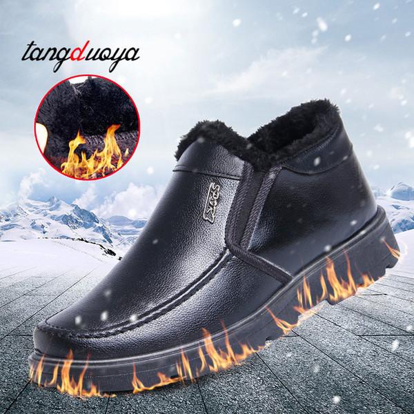 chaussures d'hiver en peluche chaudes hommes mocassins chaussures habillées bottes d'hiver bottes de neige bottes de neige étanches botines hombre