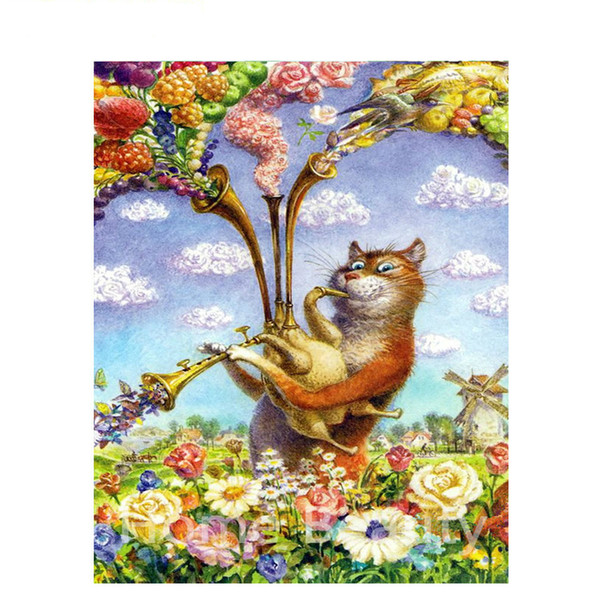 2019 Frameless Music Cat Diy Painting By Number Modern Wall Art Canvas Painting Acrylic Paint Unique Gift For Home Decors From Hysean 15 33