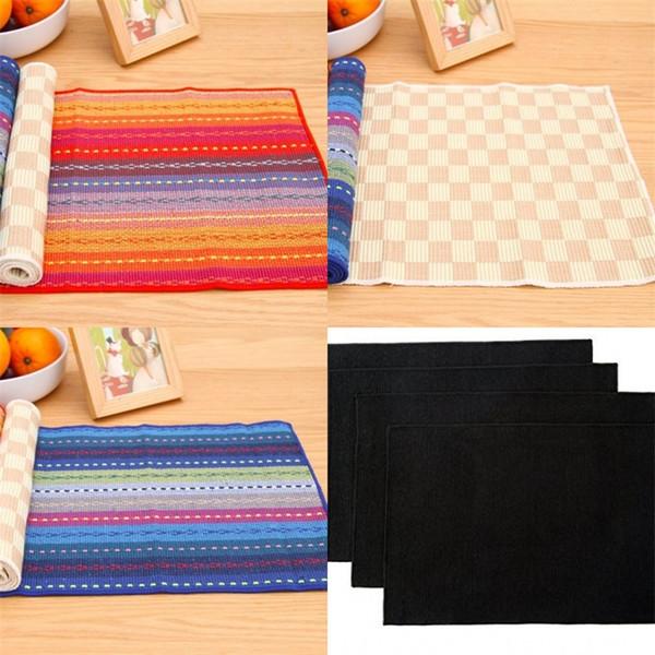 Pure Cotton Table Mat Fabric Art Home Daily Expenses Insulation Pad Colour Avirulent Insipidity Hot Sale 4 4kj V