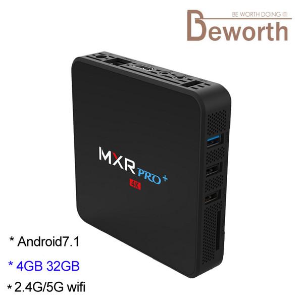 2.4G/5G Dual Band Wifi TV Box Android 8.1 RK3328 Quad Core 4GB 32GB 4K Media Player Bluetooth MXR Pro Plus 4G32G TVbox 3D Video