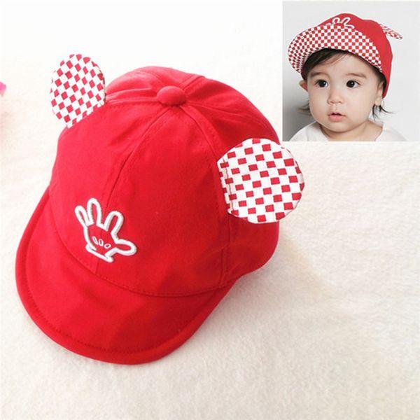 Детские Hat с ушами мультфильм дети бейсболка Palm Baby мальчики девочки шапочки хлопок лето Hat дети дети козырьки ВС Hat