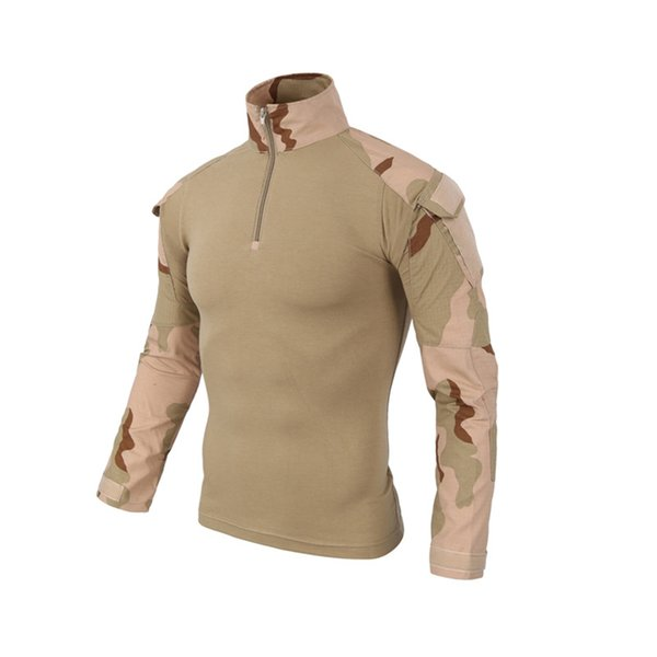 Tactical Shirt Men CS Shooting Camouflage Combat Outdoor Quick Dry T Shirt Fishing Clothing Hiking Training Hunting Clothes