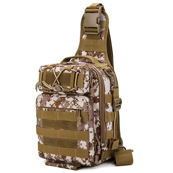 Men Outdoor bag Sports Backpack Men Multi-purpose Crossbody Bag Waterproof Tactical Handbag Camouflage Fishig 23*28*11cm