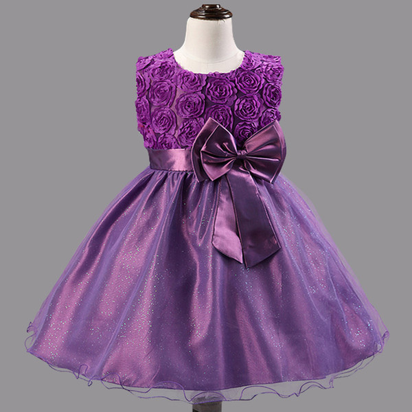 Baby Girls Floral Dress Children Clothes Tutu Ball Gowns For Party And Wedding Summer Clothes Events Costume Little Girls School Clothing