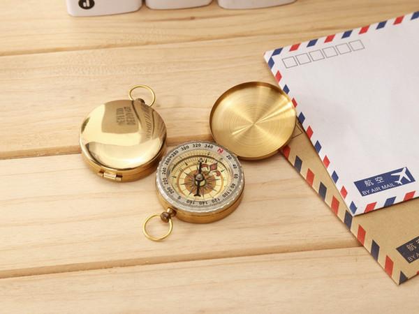 Retro Copper G50 Compass Pocket Watch Flip Multifunctional Cover Noctiluca Traditional Brass Metal Luminous Compass Pocket Antique 20PCS