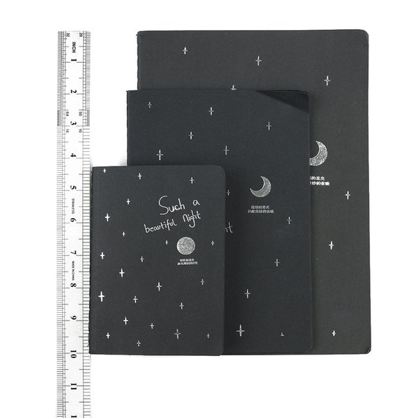 1 PC New Fashion Black Pirate Notepad Sketchbook Diary Drawing Painting Graffiti Cover Paper Sketch Book Stationery