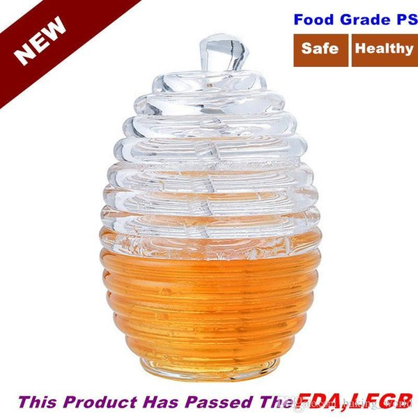 QuickDone Honey Pot Acrylic Apple Strawberry Jam Bottle Breakfast Jams Storage Condiment Seasoning Pots Oil Bottles CF08
