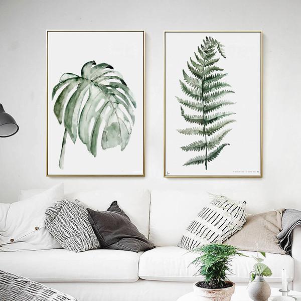 Acheter 2018 Plantes Modèle Peintures Décoratives Encadrées 30 40 Cm Mur Pantings Pour Salon Salle à Manger Décoration Peintures Murales De 14 25