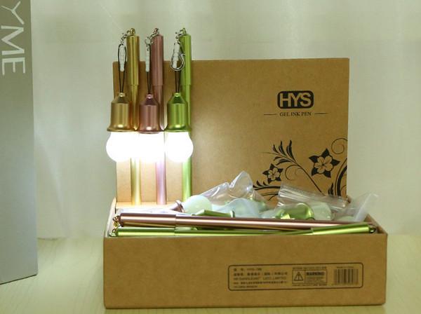 Best selling gel pen wholesale 100pcs\Lot free shipping Creative light bulb dustproof test neutral pen 204