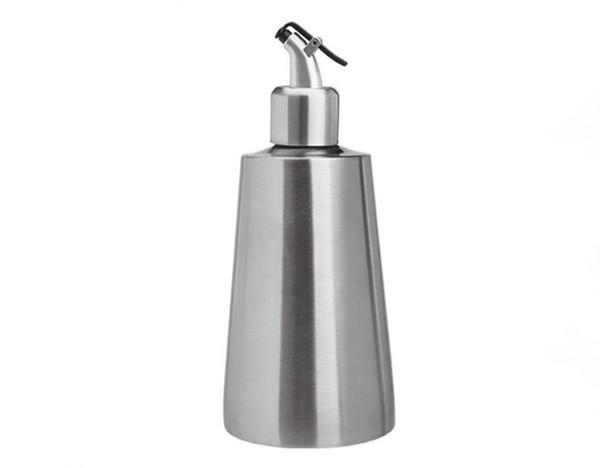 Cocina Botellas de aceite de acero inoxidable Salsa de condimento Aceite de sésamo Vinagre pequeño Dispensador de salsa dispensador Cocina útil